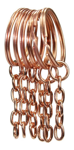 Argola Batida Rosê Gold C/ Corrente 23mm 100 Un. Galvanizada