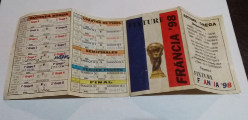 Fixture Mundial 98 Francia (completo)