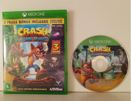 Crash Bandicoot Trilogy Xbox One Midia Fisica Raro