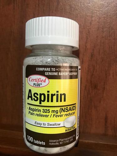 Aspirin Americana 325 Mg, 100 Tableta - Unidad a $4