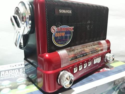 Radio Am Fm Solar Mp3 Bluetooth Usb Sd Recargable 550w