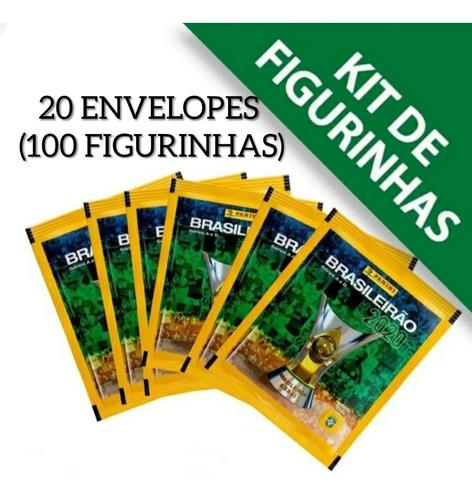 Kit 20 Envelopes (100 Figurinhas) Brasileirão 2020