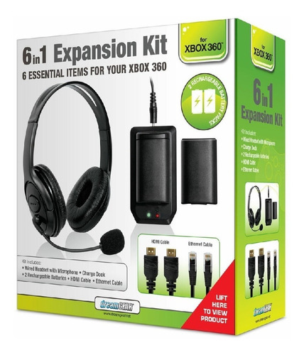 Kit De Expansão Dream Gear Para Video Game Xbox 360 3 Em 1