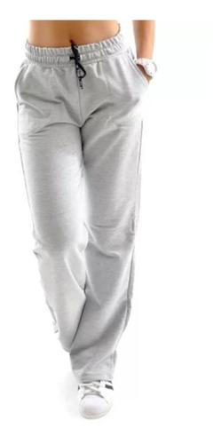 Calça Moletom Feminina  Confortável Cos Alto Ref 15505