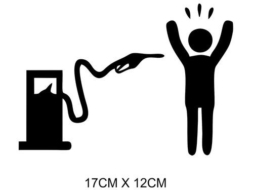 Adesivo Carro Moto Bomba De Combustível Gasolina Assaltando