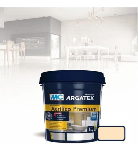 Rejunte Acrilico Premium 1kg Cores Mc Argatex