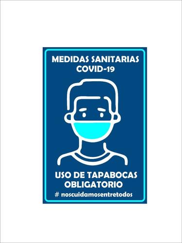Tapabocas Carteles  Indicativos Negocios Locales Vinilos
