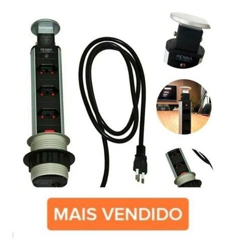 Torre De Tomada Multiplug Retratil Embutir Mesa - Liquidacao