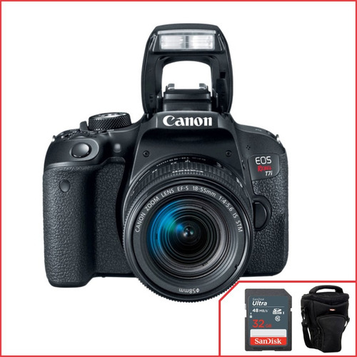 Camera Canon T7i Com 18 55mm F/4 5.6 Is Stm