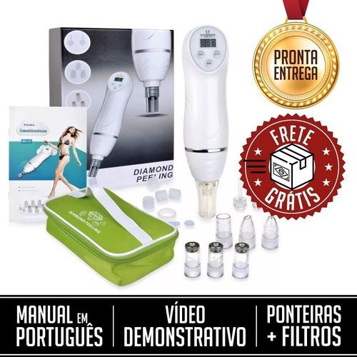 Peeling De Diamante Vácuo Portátil Bivolt 110/220 Removedor