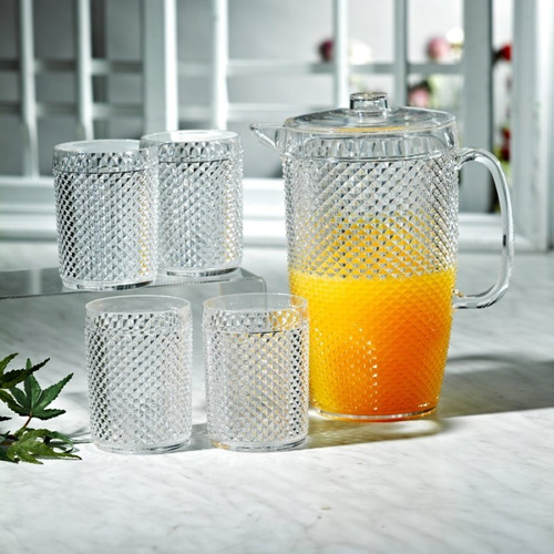 Jarra+vasos 8541s5x-0001 Setx5 2.3lt+400ml Summer De
