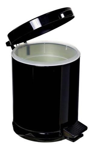 Lixeira Banheiro 4,5 Litros C/ Pedal E Recipiente Plástico