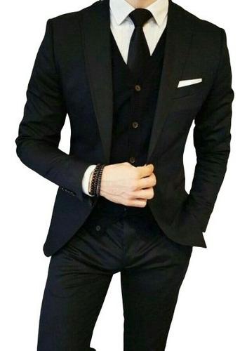 Terno Oxford Slim Masculino - Calça+paletó+colete+barato*