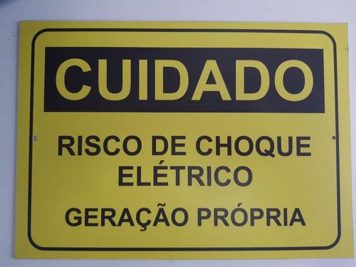 Placa Advertencia Energia Solar - Light (un)