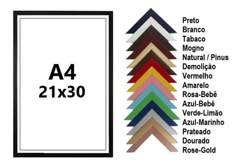 Porta Retrato Para Diplomas   Tamanho A4   21x30 C/ Vidro