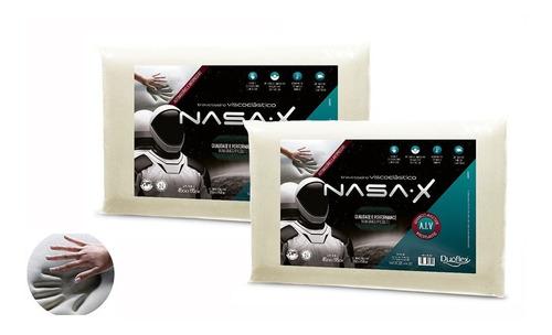 Kit Com 2 Travesseiro Nasa-x 10cm Viscoelástico - Duoflex