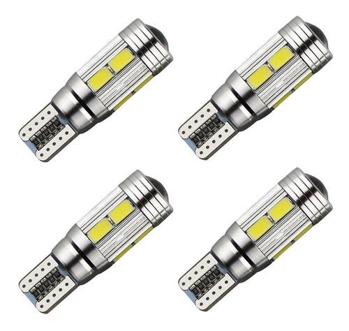 Kit 4 Lampada T10 Pingo Cambus Cree 10 Led Branca Full