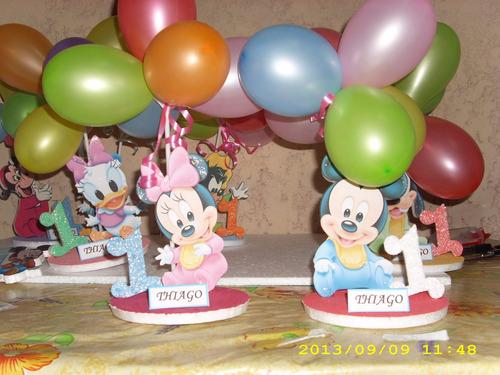 Centros De Mesa Mickey Y Sus Amigods  D 20cm Con 3 Bombitas