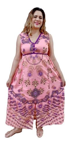 Vestido Longo Feminino Regata Estampado Indiano 1528