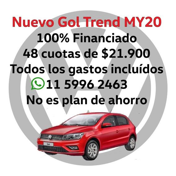Volkswagen Gol Trend Financio En $$ Tasa 0% Te=011-5996-2463