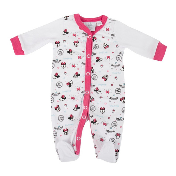 Enterito Pijama Bebe Minnie 1 Manga Larga Disney Original