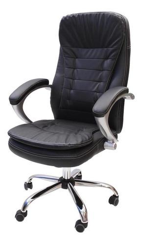Cadeira De Escritório Presidente Com Pillow Top Giratória