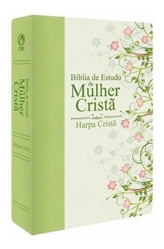 Bíblia De Estudo Da Mulher Cristã Média Com Harpa Luxo
