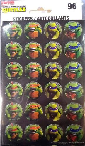 Stickers Calco Autoadhesivos Tortugas Ninja Turtles Rdf1