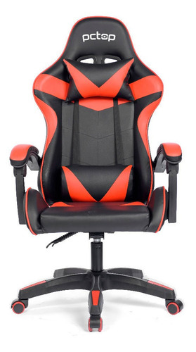 Cadeira Gamer Pctop Strike 1005 Vermelha/preto
