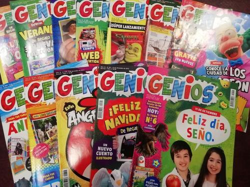 4 Lotes De 15 Revistas Genios. Total 60 Revistas.