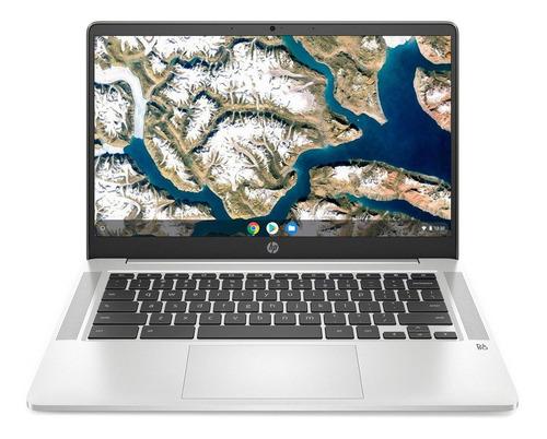Notebook Hp Chromebook 14a-na0031wm Mineral Silver 14 , Intel Pentium Silver N5000  4gb De Ram 64gb Ssd, Intel Uhd Graphics 605 1366x768px Google Chrome