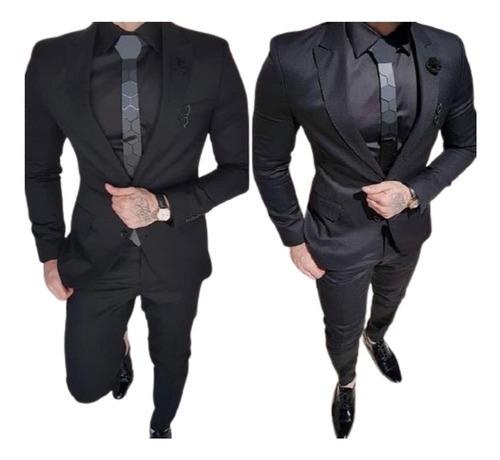 Terno Executivo Slim Corte Italiano De Luxo (calça E Blazer)