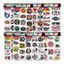 Cartela 97 Adesivos Logos Antigos Fogão Ps3 Ps4 LG Papel M2