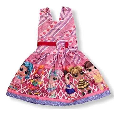 Vestido De Festa Infantil Temático Lol Suprise