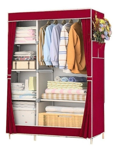 Large Portable Closet Cover Stamped Wine R07