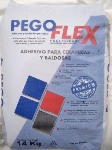Pego Flex Gris De 14 Kilos Pak De 5 Sacos.