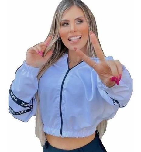 Corta Vento Blusinha Jaqueta Blusa Feminina Top Casaco Curta