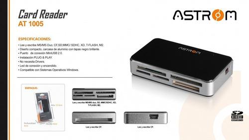 Lector De Memorias At-1005 Compac Flash/sd/microsd/astrom