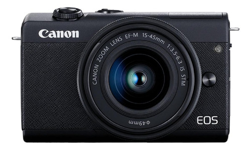 Canon Eos Kit M200 + Lente 15-45mm Is Stm Mirrorless Cor  Preto