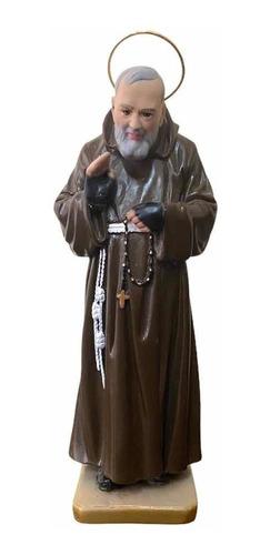 Imagem Padre Pio De Pietrelcina Com Auréola - 30cm