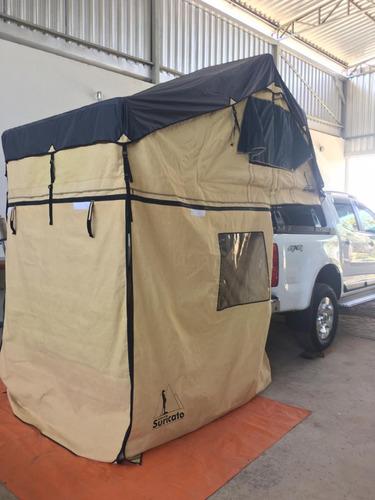 Barraca De Teto Automotiva Suricato 1,40m 3 Pessoas C/anexo