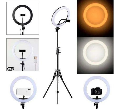 Iluminador Ring Light Led 14 Polegadas 36cm Com Tripé 2.10m