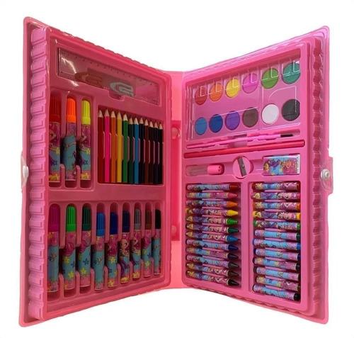 Maleta De Pintura Infantil Estojo Material Escolar 68 Peças