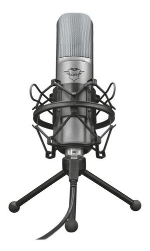 Microfone Gamer Trust Gxt 242 Lance Streaming T22614 Usb Pc