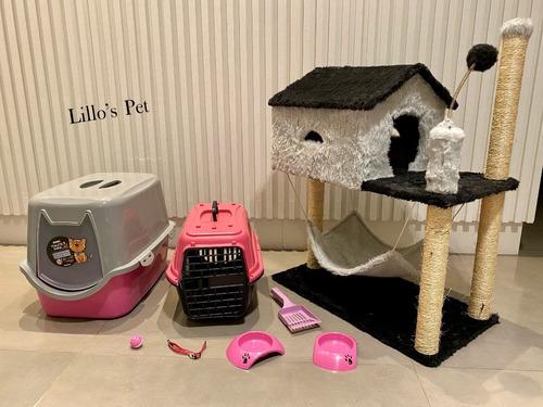 Arranhador Gato Casinha + Kit Wc Completo Retirar