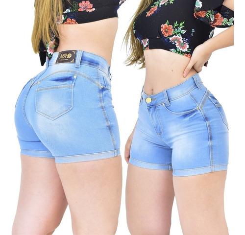 Kit 3 Shorts Femininos Cintura Alta C/ Lycra Elastano