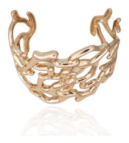 Bracelete Coral Banhado A Ouro 18k