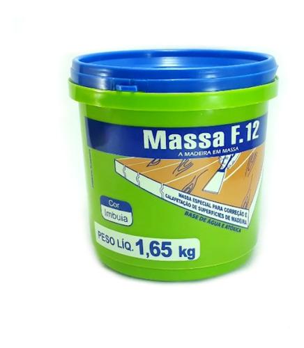 Massa F12 Calafetar Correção Madeira Viapol 1,65kg Div Cores