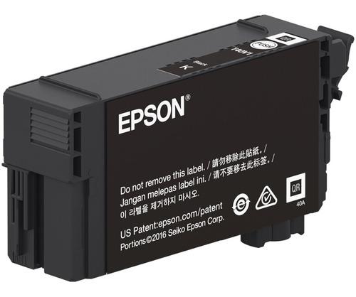 Cartucho Epson T40v 120 P/plotter T3170 Black 50 Ml