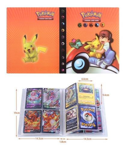 Pasta Álbum Pokemon Compacto + Cabe 240 Cards + Cards Brinde